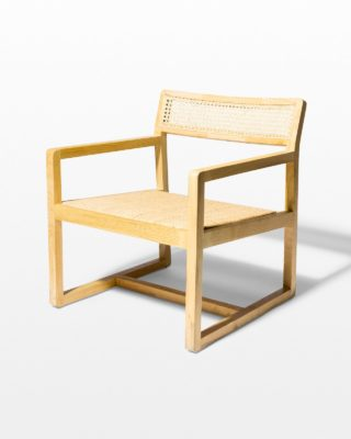 Front view of Ellery Natural Caned Chair