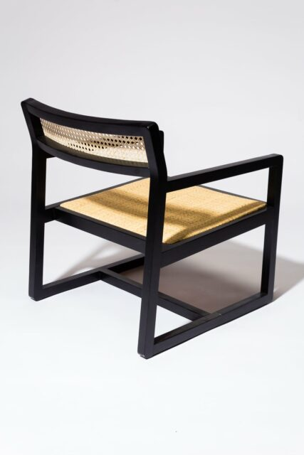 Alternate view 4 of Elon Black and Cane Chair