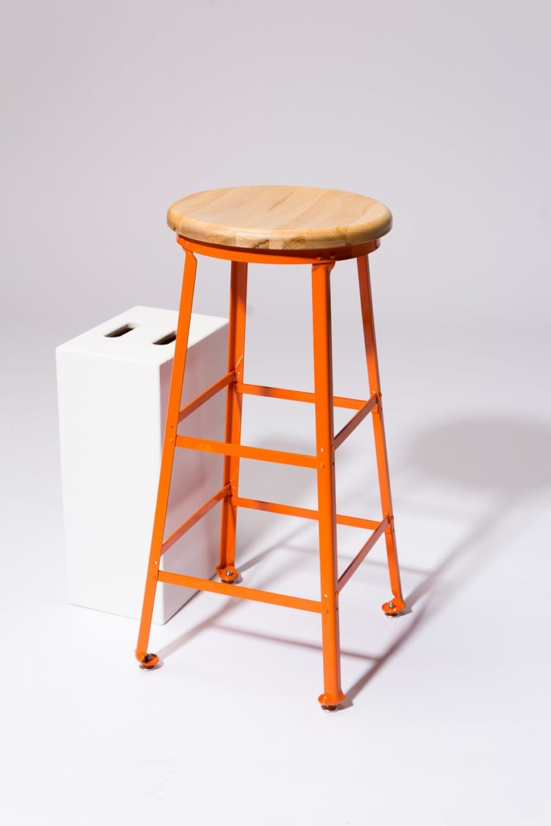 Alternate view 2 of Kian Orange Steel Stool