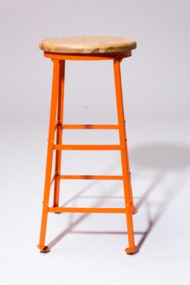 Alternate view 3 of Kian Orange Steel Stool