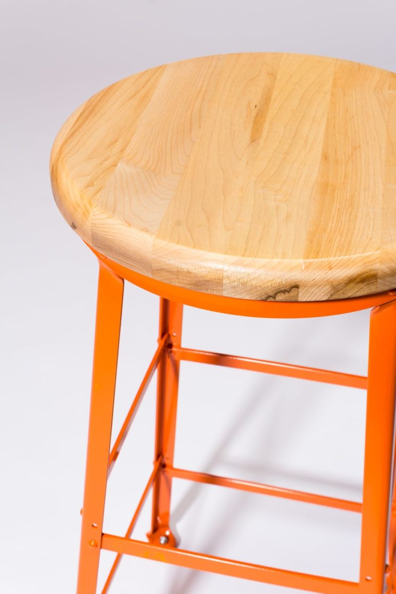 Alternate view 1 of Kian Orange Steel Stool