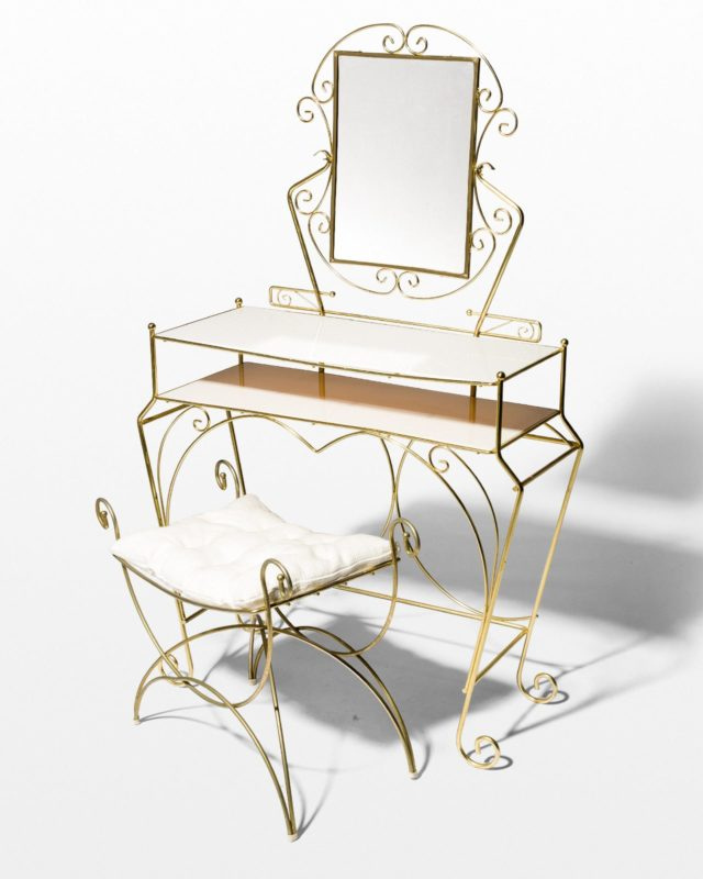 Front view of Robyn Vanity and Stool Set