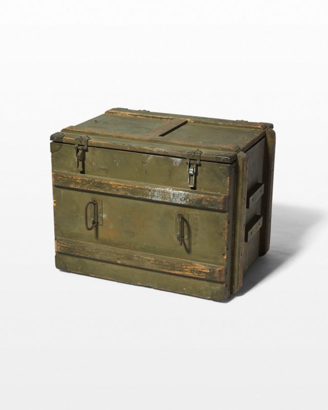 Front view of Boro Industrial Wooden Crate