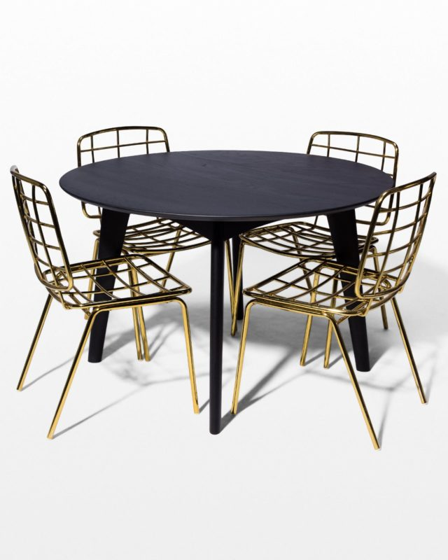 Front view of Marcy and Auden Dining Set