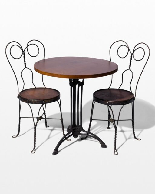 Front view of Kristen Parlor Chair and Lattice Bistro Table Set