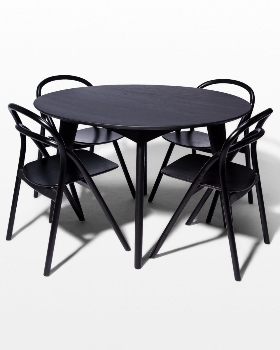 Front view of Lorne and Auden Dining Set
