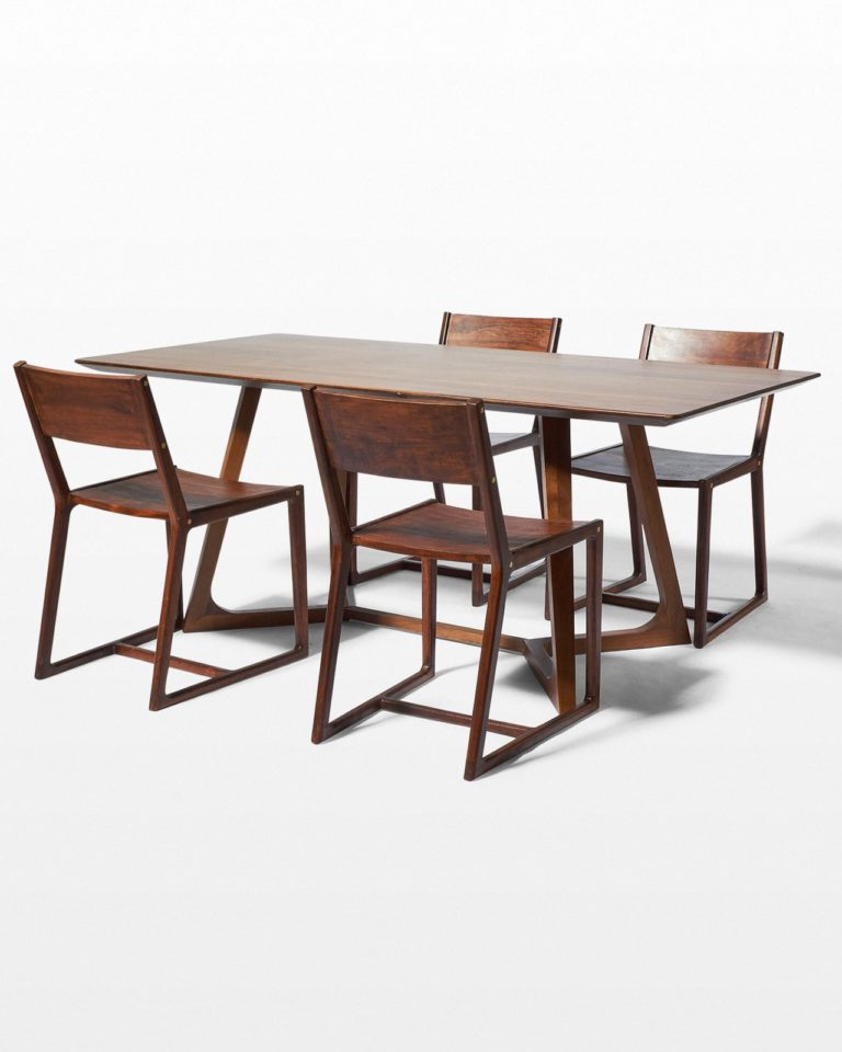 Front view of Axis and Fellini Dining Set