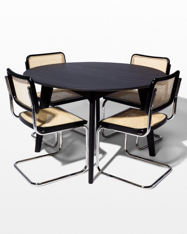 Front view of Edmond and Auden Dining Set