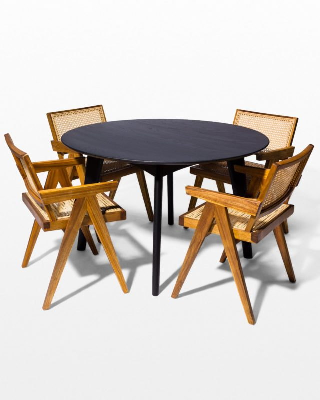 Front view of Geneva and Auden Dining Set