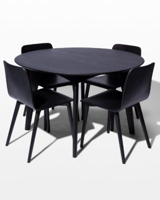 Front view of Aria and Auden Dining Set