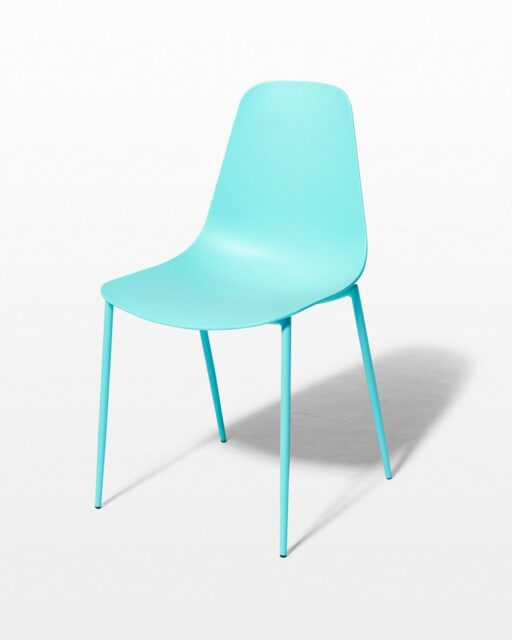 Front view of Drea Turquoise Chair