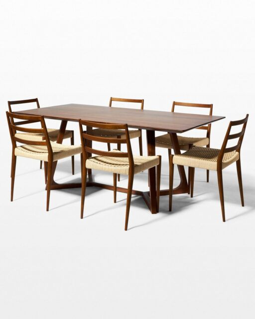 Front view of Axis and Magnus Dining Set (6 Chairs)