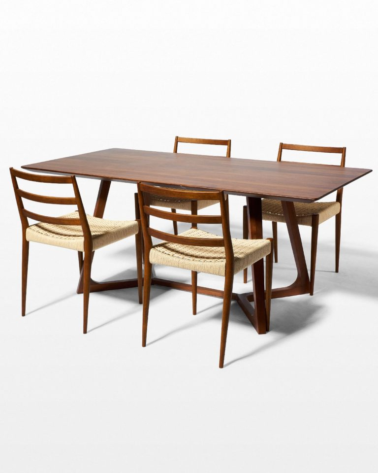 Front view of Axis and Magnus Dining Set (4 Chairs)