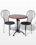 Front view thumbnail of Lattice Chair and Bistro Table Set