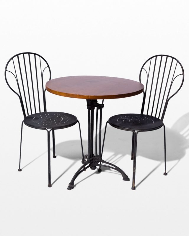 Front view of Lattice Chair and Bistro Table Set