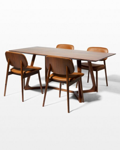 Front view of Axis and Easton Dining Set