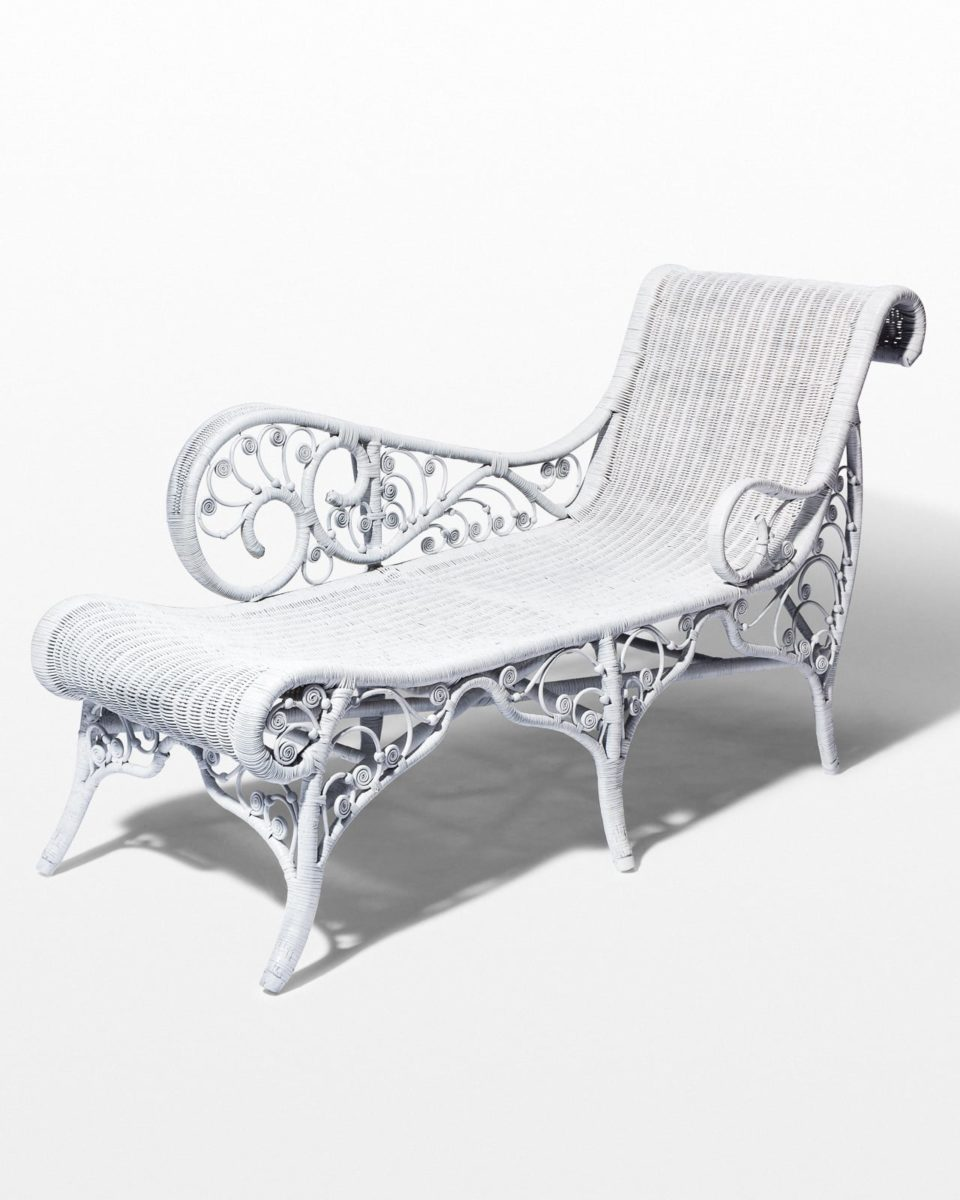 Front view of Indio Rattan Chaise Lounge