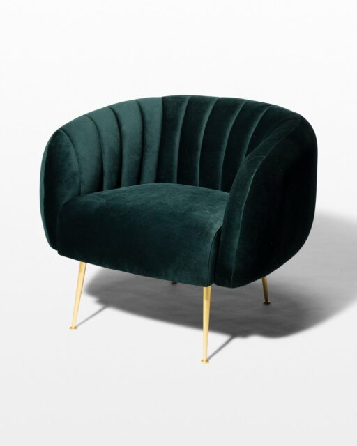 Front view of Leonard Dark Green Chair