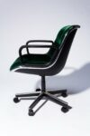 Alternate view thumbnail 3 of Piero Green Velvet Rolling Chair