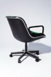 Alternate view thumbnail 4 of Piero Green Velvet Rolling Chair