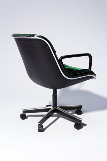 Alternate view 4 of Piero Green Velvet Rolling Chair