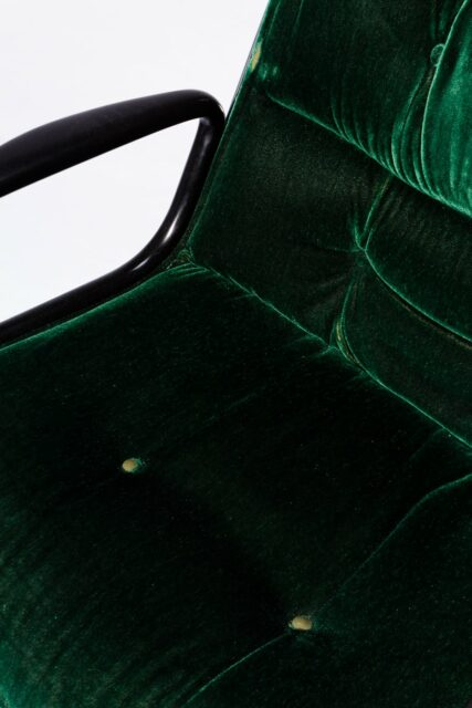 Alternate view 1 of Piero Green Velvet Rolling Chair