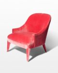 Front view thumbnail of Lordes Coral Velvet Armchair
