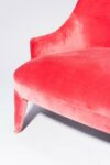 Alternate view thumbnail 1 of Lordes Coral Velvet Armchair