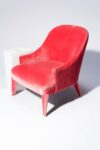 Alternate view thumbnail 2 of Lordes Coral Velvet Armchair