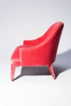 Alternate view thumbnail 3 of Lordes Coral Velvet Armchair