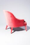 Alternate view thumbnail 4 of Lordes Coral Velvet Armchair