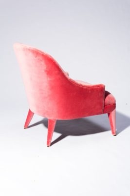 Alternate view 4 of Lordes Coral Velvet Armchair
