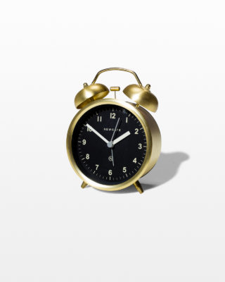 Front view of Calypso Gold Alarm Clock