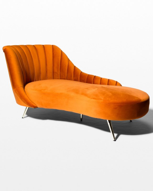 Front view of Racine Rust Chaise