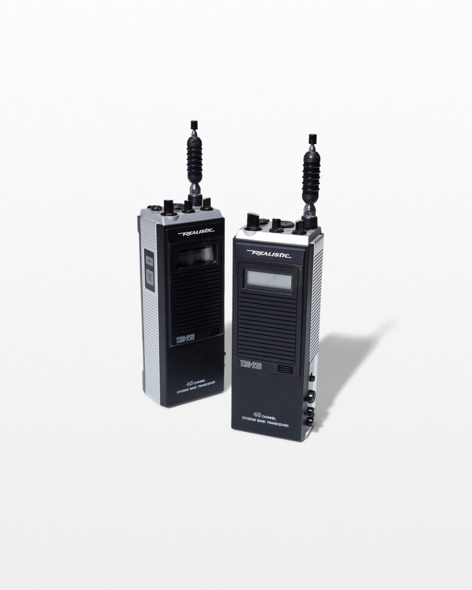 Front view of Keefe Walkie Talkie Set