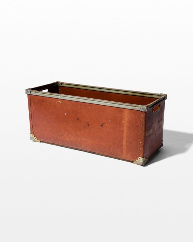 Front view of Del Rectangular Crate