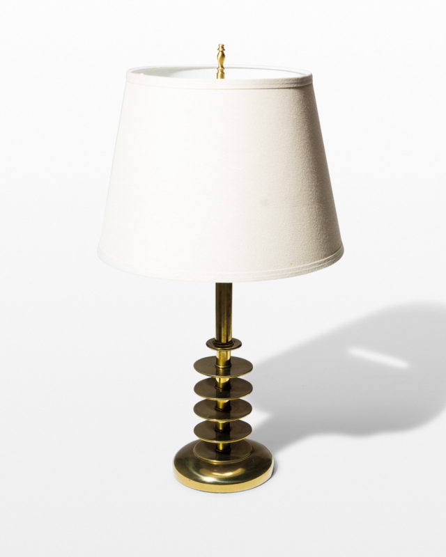 Front view of Orbit Brass Lamp