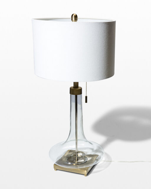 Front view of Magda Glass Base Lamp