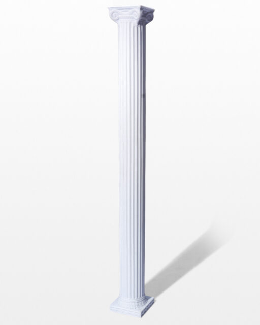 "Front view of Adrian 84"" Ionic Column"