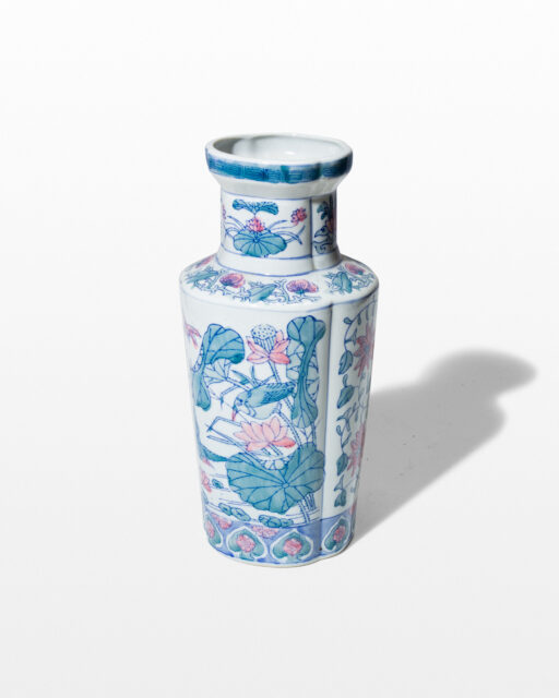 Front view of Temple Porcelain Vase