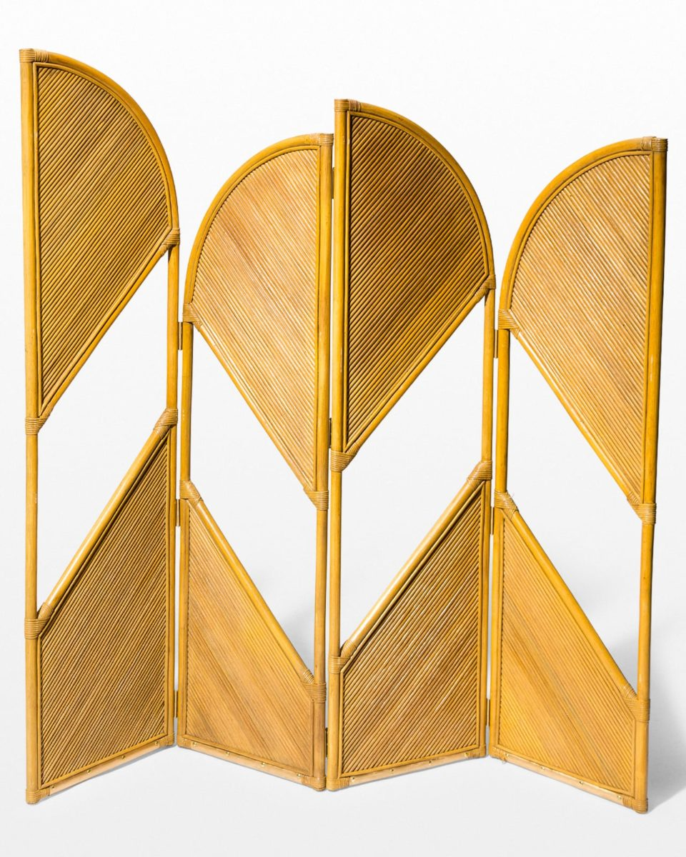 Front view of August Rattan Room Divider Screen