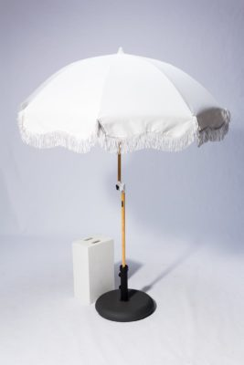 Alternate view 3 of Lotus Ivory Beach Umbrella