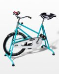 Front view thumbnail of Quest Vintage Teal and Chrome Exercise Bike