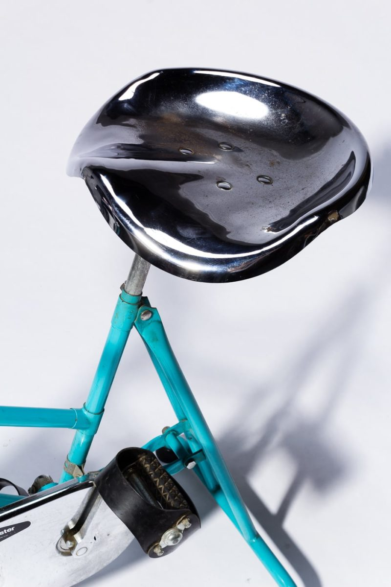 Alternate view 2 of Quest Vintage Teal and Chrome Exercise Bike