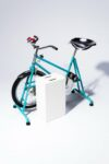 Alternate view thumbnail 3 of Quest Vintage Teal and Chrome Exercise Bike