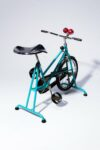 Alternate view thumbnail 5 of Quest Vintage Teal and Chrome Exercise Bike
