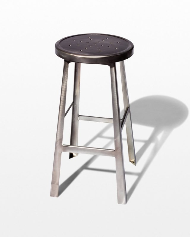 Front view of Ode Steel Stool