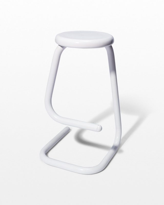Front view of Gin White Paperclip Stool