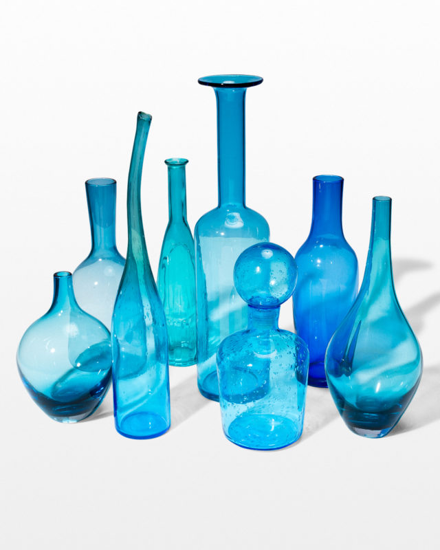 Front view of Azul Glass Vessel Set