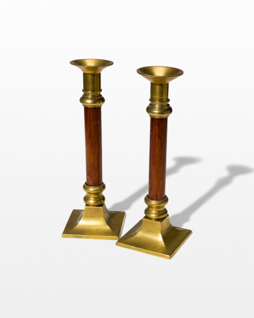 Front view of Bern Candlestick Pair